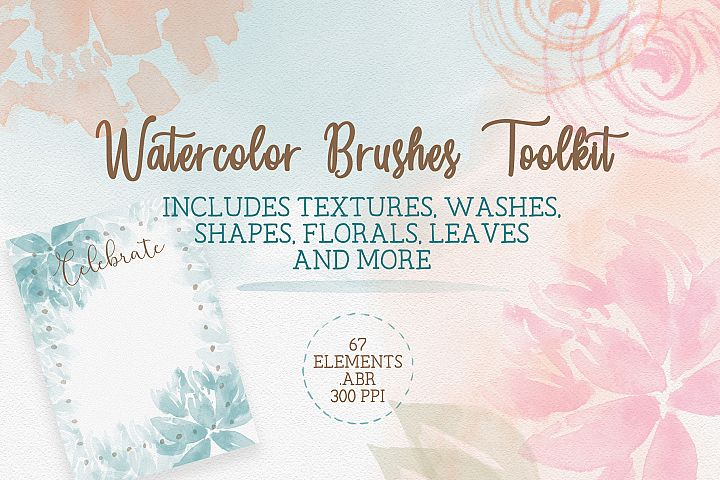 Watercolor Brushes Toolkit, Photoshop Brushes