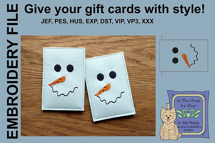 ITH Simple Snowman Gift Card Holder