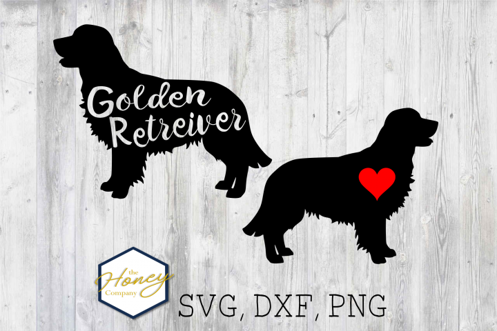 Golden Retreiver SVG PNG DXF Dog Breed Lover Cut File Vector