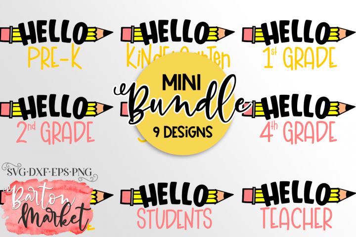 Mini BUNDLE 9 School Designs