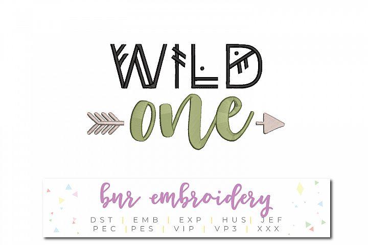 Wild One Machine Embroidery Design