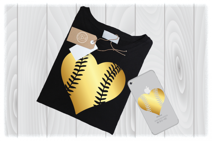 Baseball Heart SVG Files for Cricut Mom DXF Laces Designs