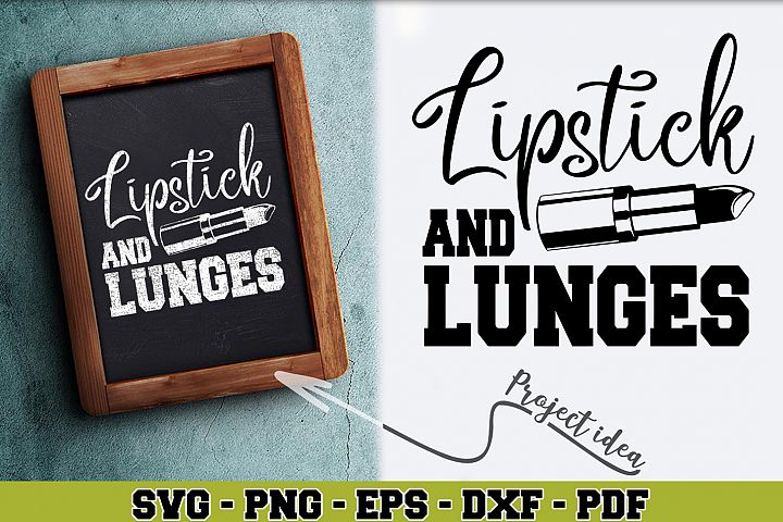 Gym SVG n255 | Lipstick and lunges