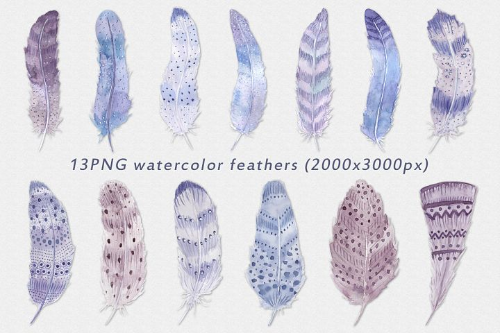 Watercolor feathers Boho - Free Design of The Week Design1