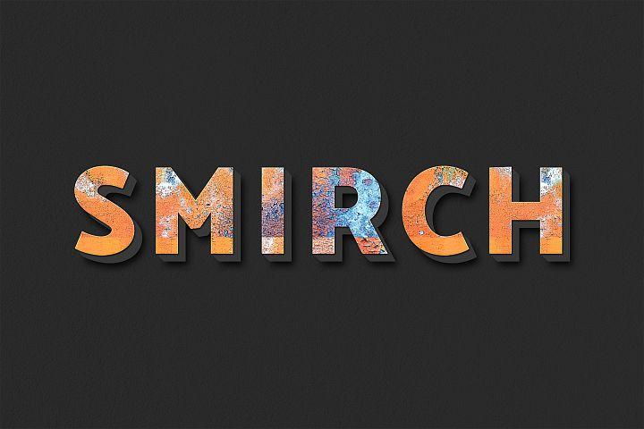 Smirch Editable Photoshop Text Style Effect