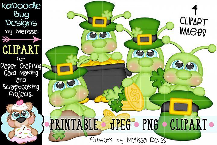 St Patricks Day Cricket Clipart - 4 JPEG PNG Print Then Cut