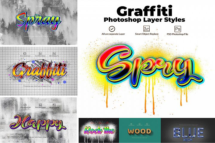 Graffiti Layer Styles