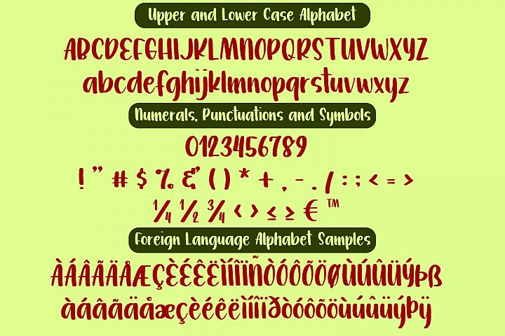 Watermelon Jelly Brush Print Typeface example image 2