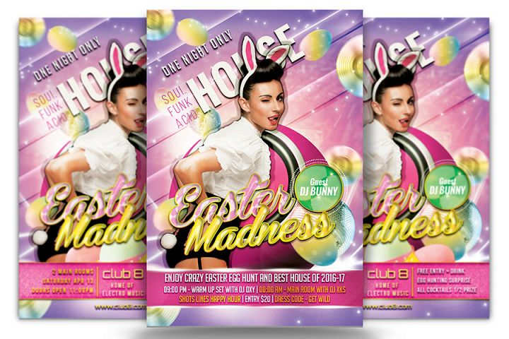Easter Madness Flyer Template