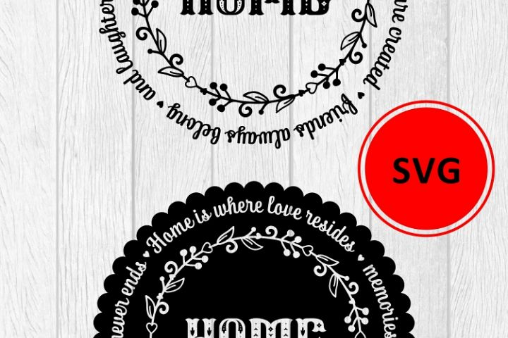 Love Family SVG Quote cut file. Round frame example image 8