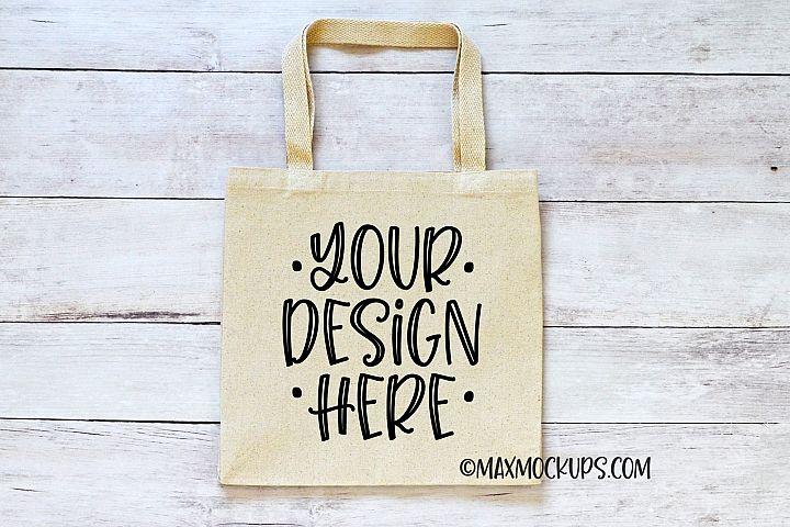 Canvas tote mockup, shopping bag, minimalist