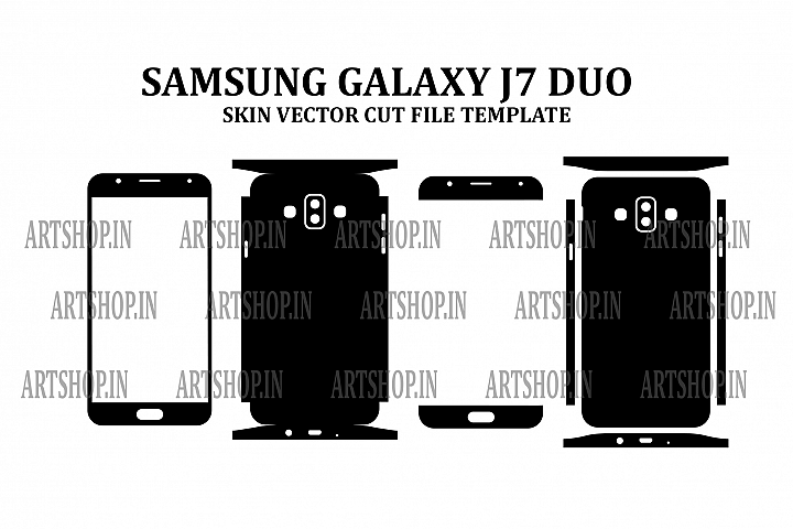 Samsung Galaxy J7 Duo Vinyl Skin Vector Cut File