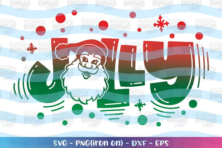 Christmas svg Santa Claus svg Jolly svg