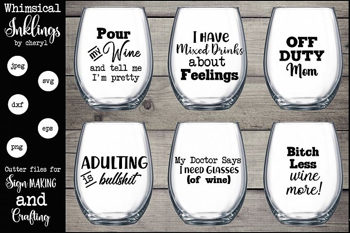 Pour My Wine SVG Set