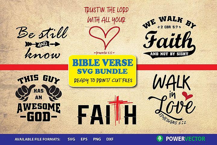 Bible Verse SVG Bundle - Ready to cut, print files