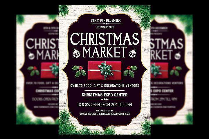Christmas Market Flyer Template