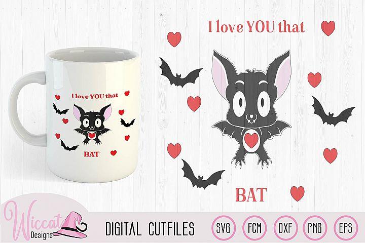 Valentine Bat svg, Gothic bat svg, Valentine svg, gift svg,