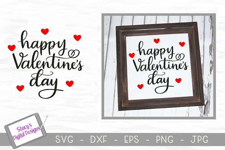 Happy Valentine's Day SVG - Valentine cut file, handlettered example 1