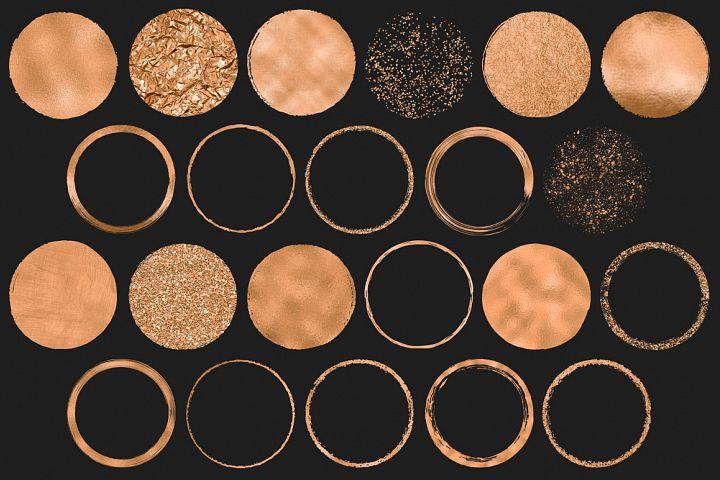 Copper Circles Clip Art example image 3