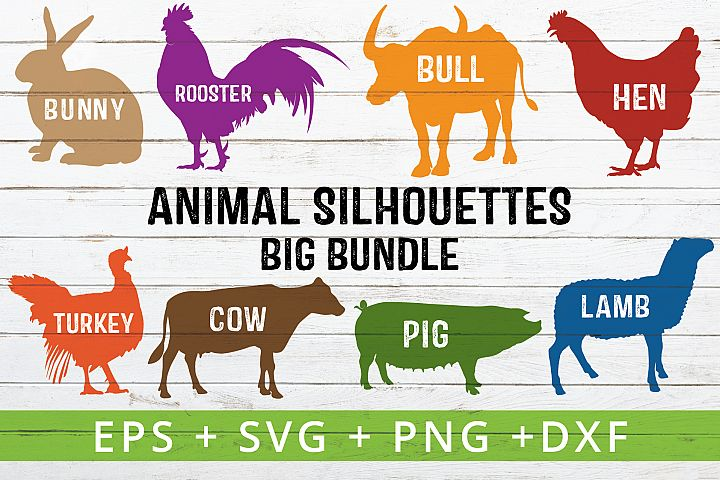 FARM ANIMAL SILHOUETTES SVG CRAFTER