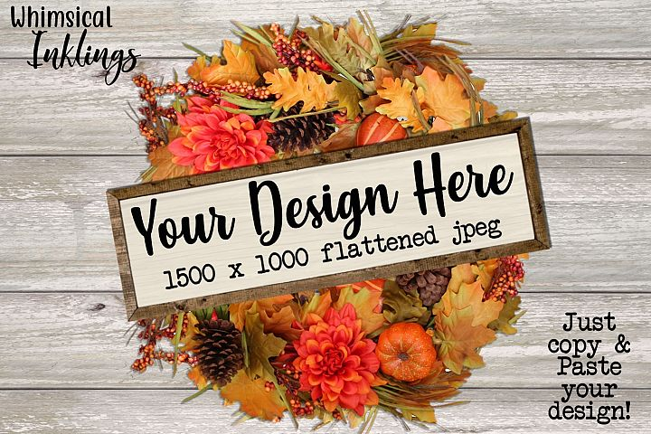 Fall Wreath Sign Mock Up