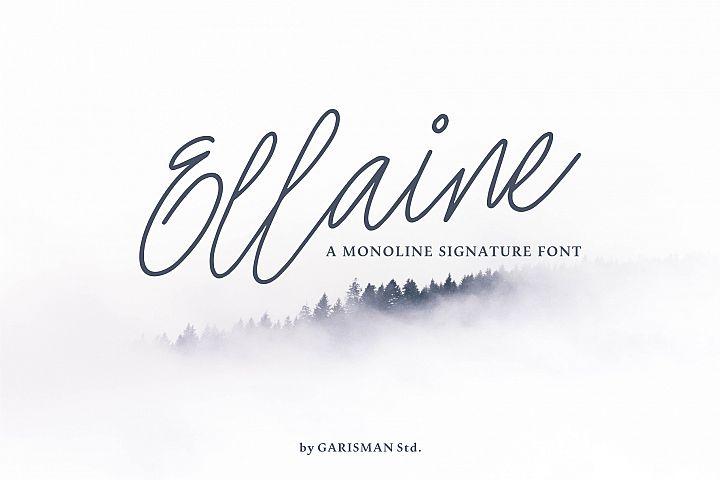 Ellaine Monoline Signature Font