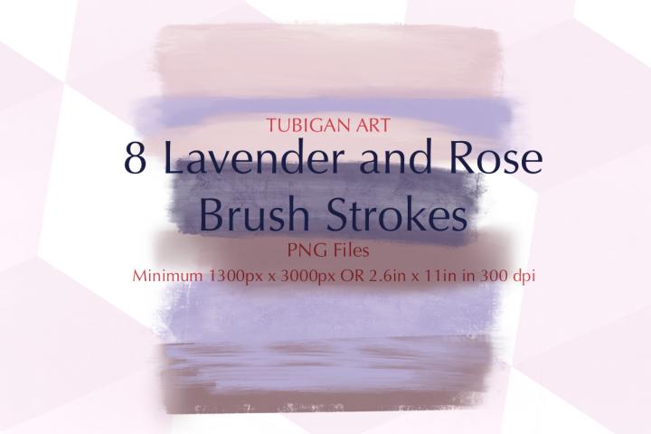 Lavender and Rose Brush Strokes