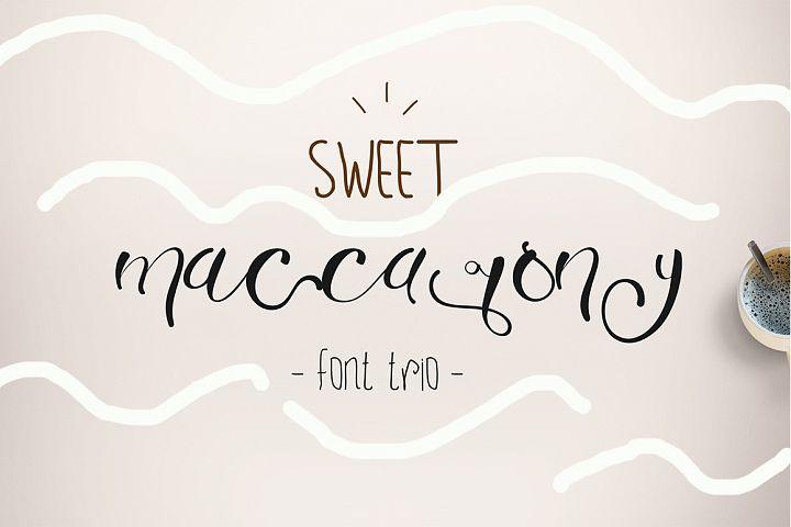 Sweet Maccarony Font Trio