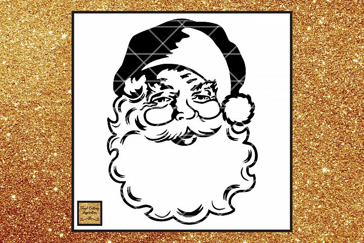 FREE Santa Face Svg, Vintage Santa Svg, Christmas Svg, dxf