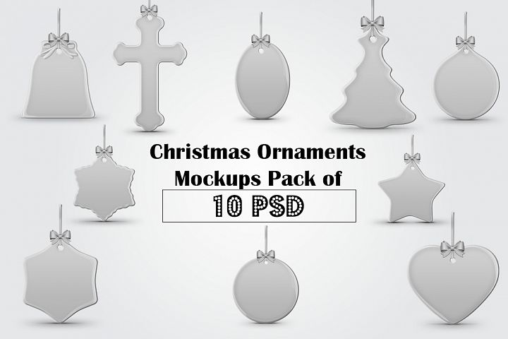 Christmas Ornaments Mockups Pack