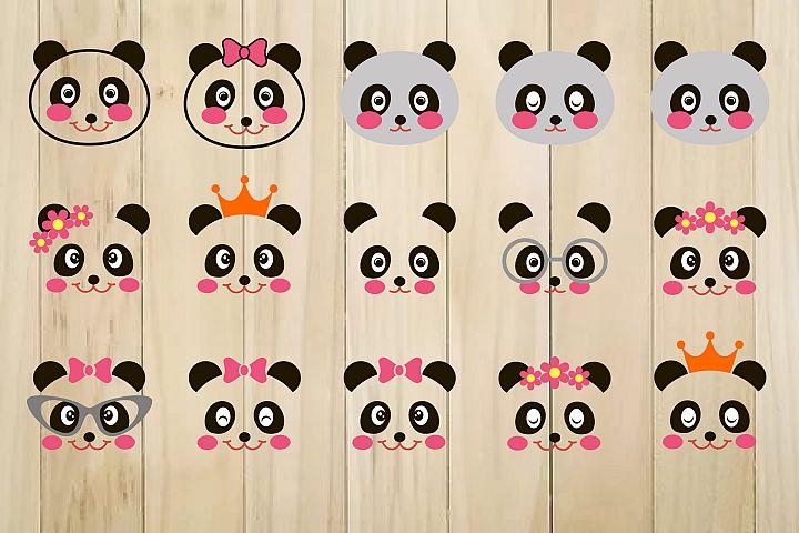 Panda SVG, Panda Face Svg, Panda Clip Art, Panda Head Svg
