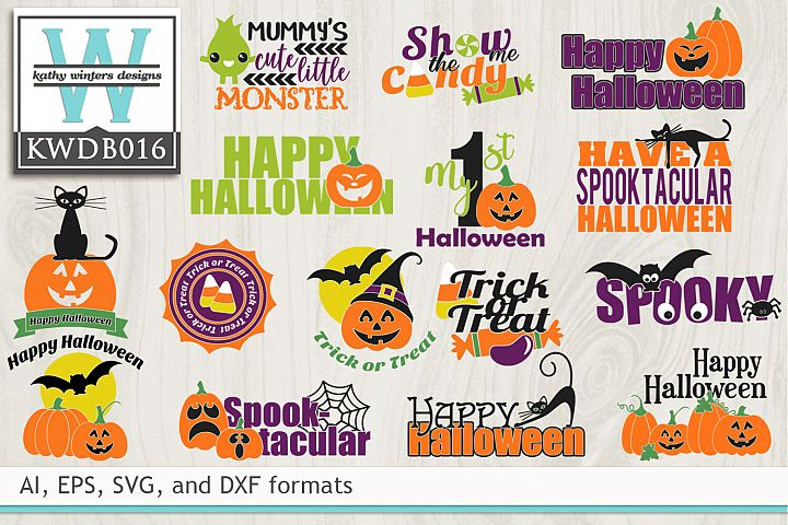 BUNDLED Halloween Cutting Files B016
