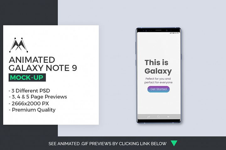 Animated Galaxy Note 9 Mock-Ups