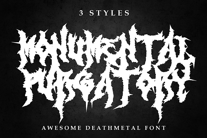 Monumental Purgatory - 3 Awesome Deathmetal Fonts