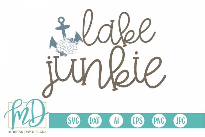 Floral - Lake - Anchor - Lake Junkie SVG
