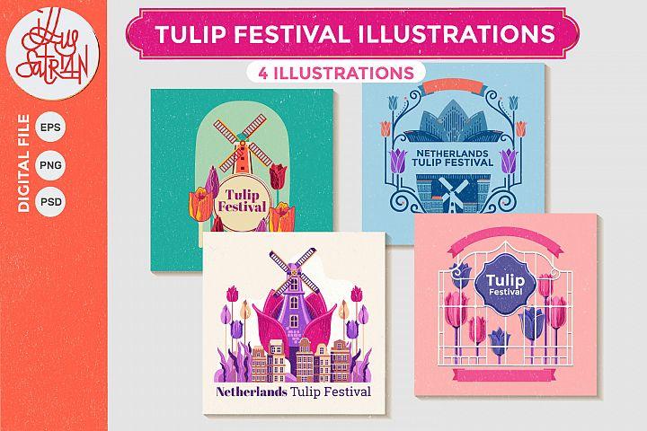 Tulip Festival Illustrations