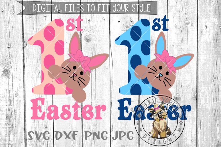 My First Easter mini Bundle Boy & Girl - 1st - SVG cut file