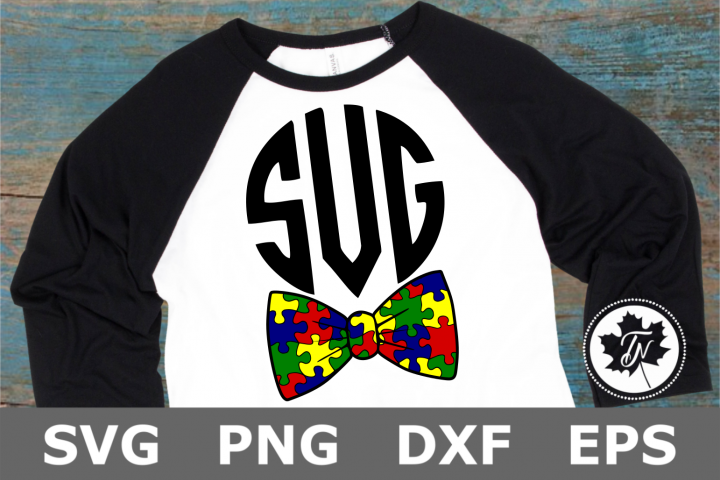 Puzzle Piece Bow Tie - An Autism Awareness SVG Cut File