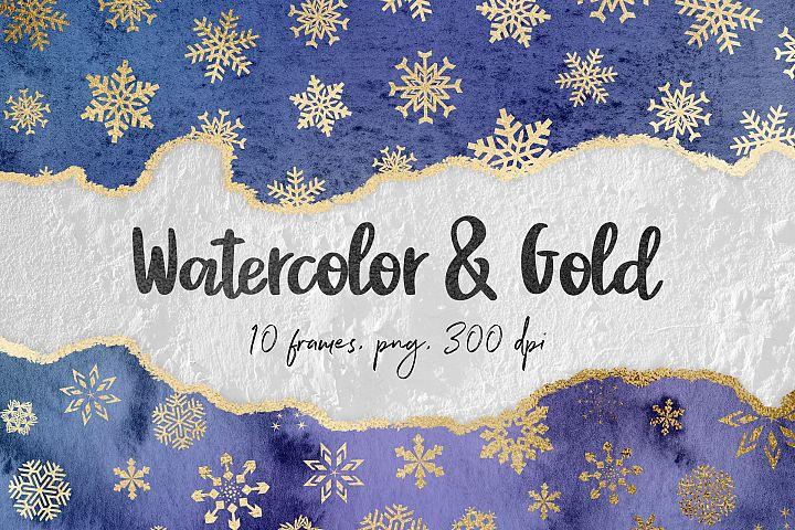 Watercolor Winter Borders