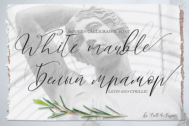 White Marble Calligraphy Font