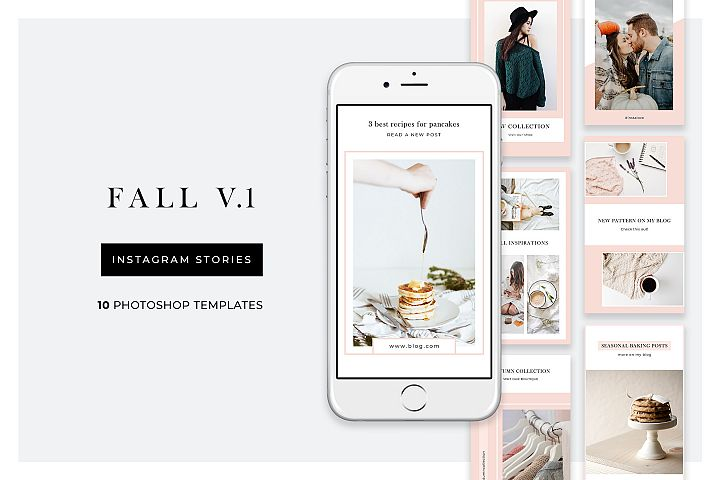 Fall Instagram Stories - 10 Photoshop templates