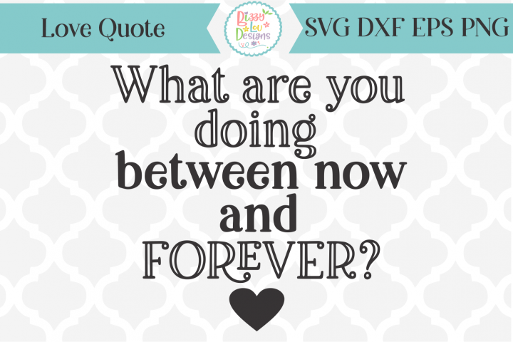 What are you doing between now and forever - love quote SVG