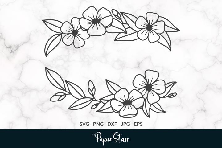 Flower Laurel SVG Cut File
