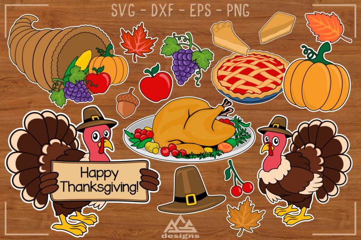 Fall Thanksgiving Elements Packs Svg Design