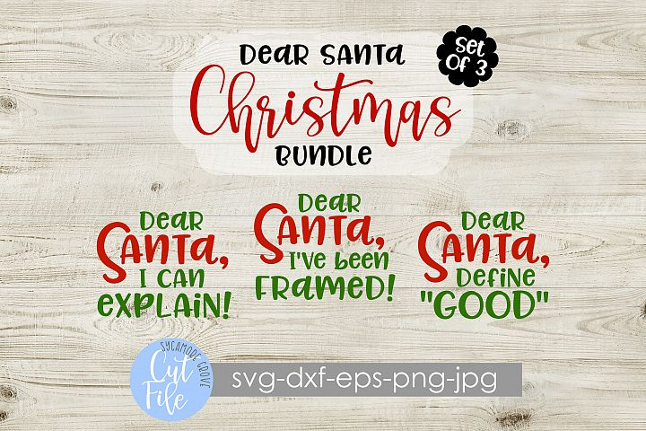 Dear Santa SVG Bundle | Set of 3 | Kids Christmas SVG