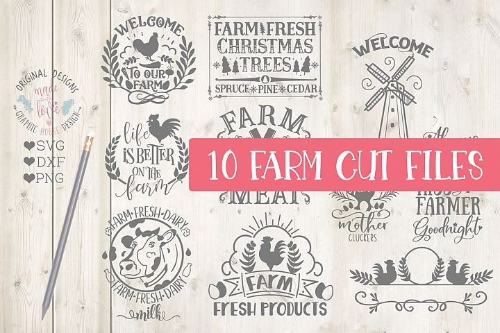 Farm House Cut File Bundle