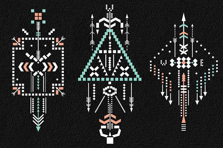 Boho totem. Sacred geometry example 10