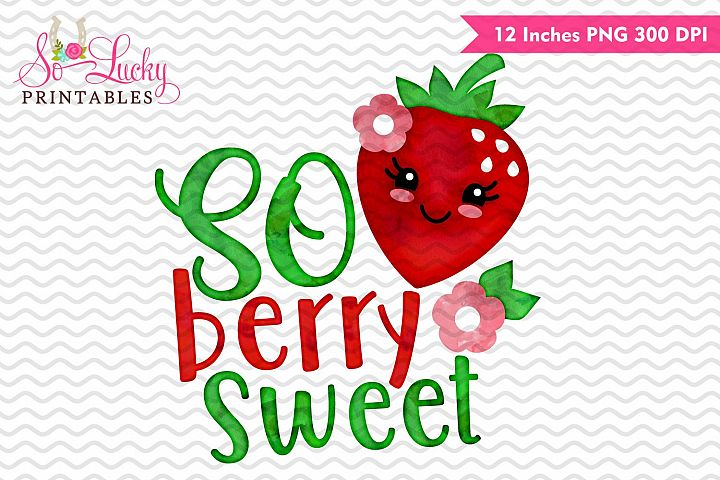 So berry sweet watercolor sublimation design