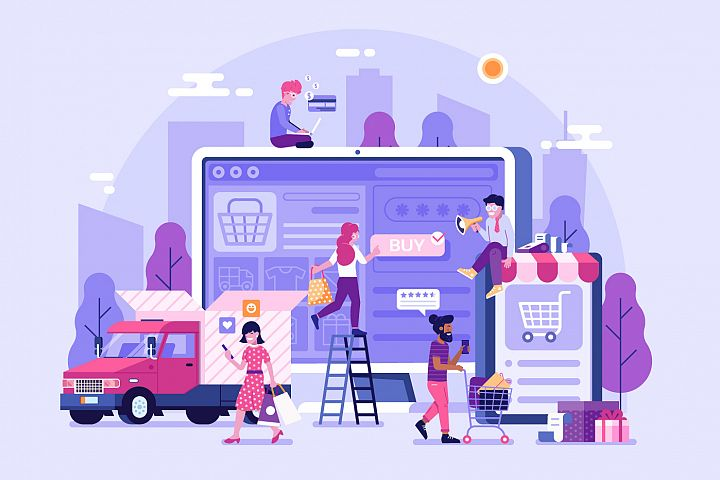 Online Shopping Concept Banner