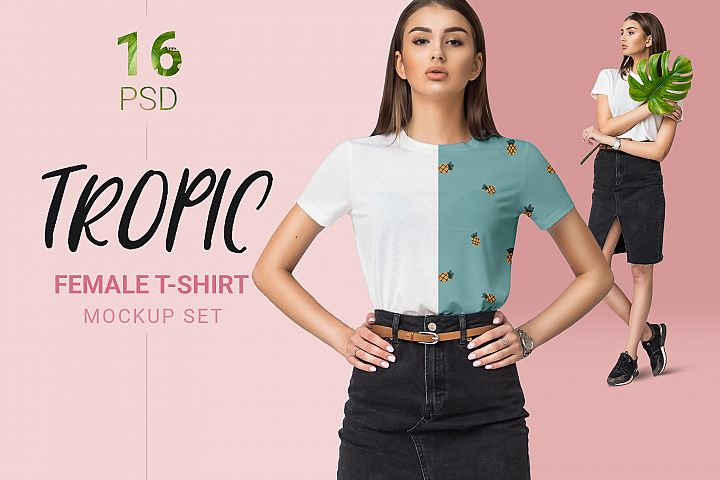 Female T-shirt Mockups Free Demo